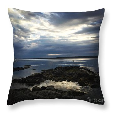 Throw Pillow featuring the photograph Maine Drama by LeeAnn Kendall