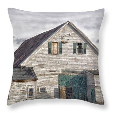 Throw Pillow featuring the photograph Maine Farm Barn by Richard Bean