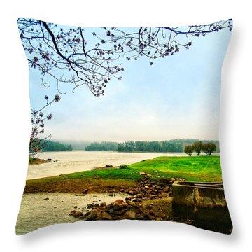 Maine Fog  Throw Pillow