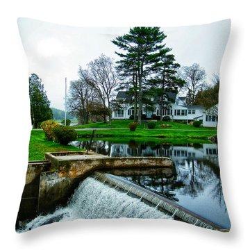 Maine House  Throw Pillow