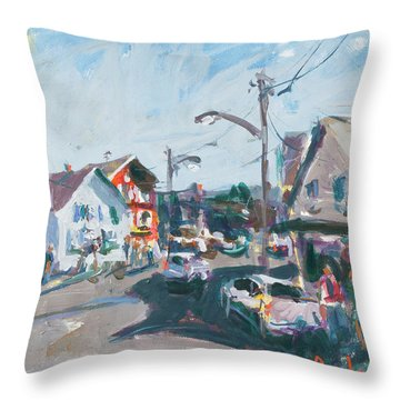 Maine Landscape Art Throw Pillow