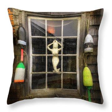 Maine Mermaid Throw Pillow