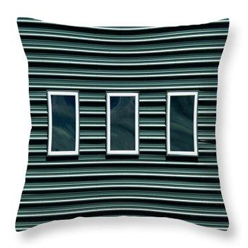 Maine Windows 2 Throw Pillow