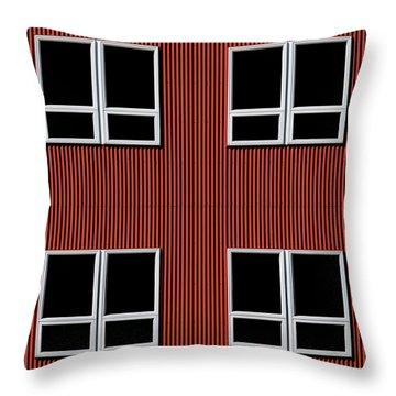 Maine Windows 3 Throw Pillow