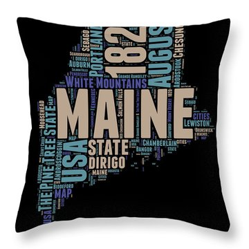 Maine Throw Pillows