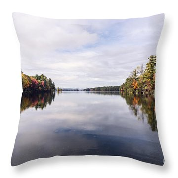 Throw Pillow featuring the photograph Mainer's Fall by Anthony Baatz