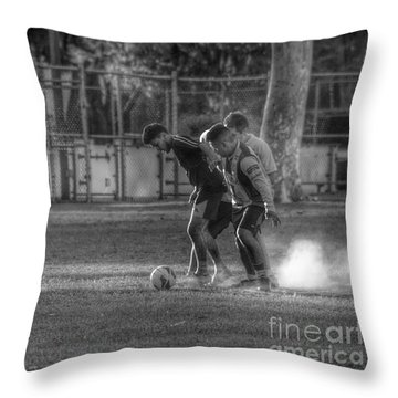 Maintaining Control Throw Pillow