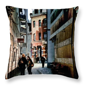 Throw Pillow featuring the photograph Mainz Badergasse by Jim Hill