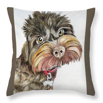 Maisie Moo Throw Pillow