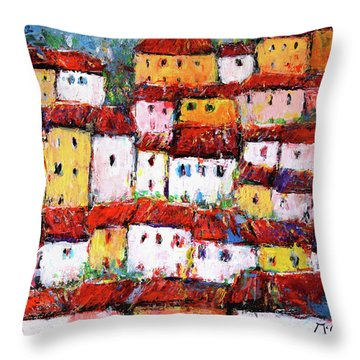 Maisons De Ville Throw Pillow