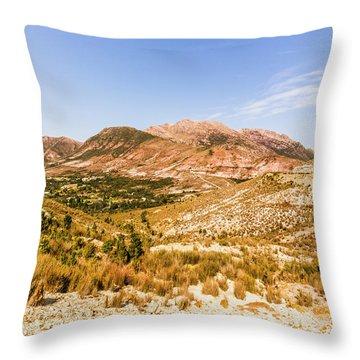 Majestic Arid Peaks Throw Pillow