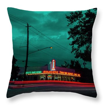 Majestic Cafe Throw Pillow