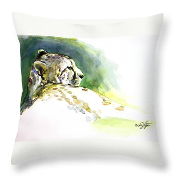 Majestic Cheetah Throw Pillow