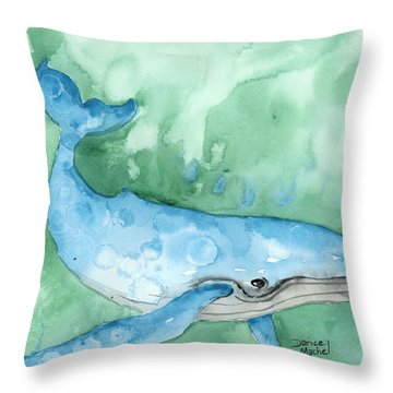 Throw Pillow featuring the painting Majestic Creature by Darice Machel McGuire