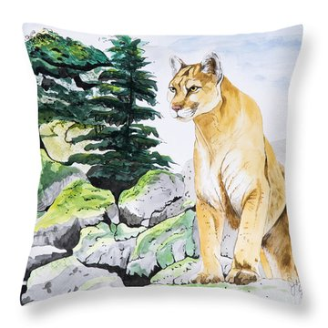 Majestic Domain Throw Pillow by Joette Snyder