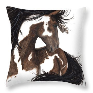 Majestic Dream Pinto Horse Throw Pillow