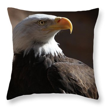 Majestic Eagle Throw Pillow by Marie Leslie