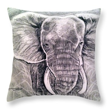 Majestic Elephant Throw Pillow