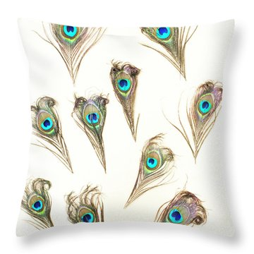 Majestic Feathers Throw Pillow