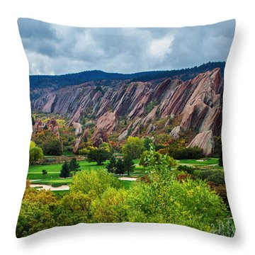 Majestic Foothills Throw Pillow by Kristal Kraft