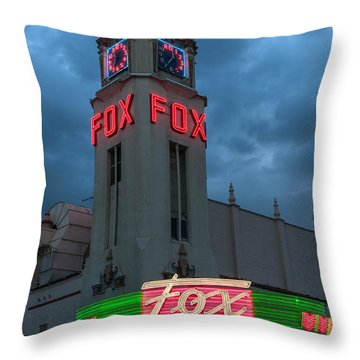 Majestic Fox Theater Neon Tribute Merle Haggard Throw Pillow