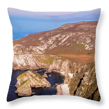 Majestic Glenlough - County Donegal, Ireland Throw Pillow