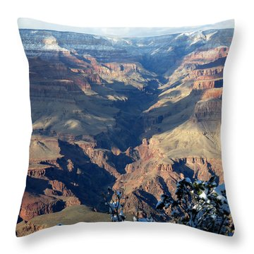 Throw Pillow featuring the photograph Majestic Grand Canyon by Laurel Powell