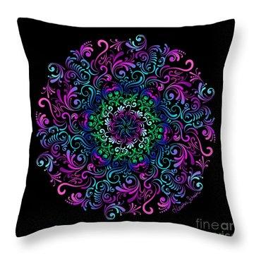 Majestic Kaleidoscope Throw Pillow