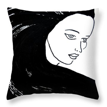 Majestic Lady J0715a Throw Pillow