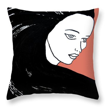 Majestic Lady J0715d Calypso Coral 17-1744 Ee5c6c  De7766 Throw Pillow