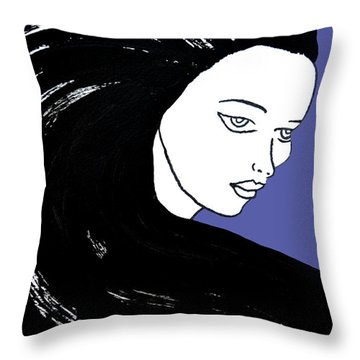Majestic Lady J0715f J0715f Marina Blue Pastel Painting 17-4041 4f84c4 585fa8 Throw Pillow