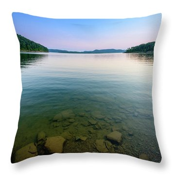 Majestic Lake Throw Pillow