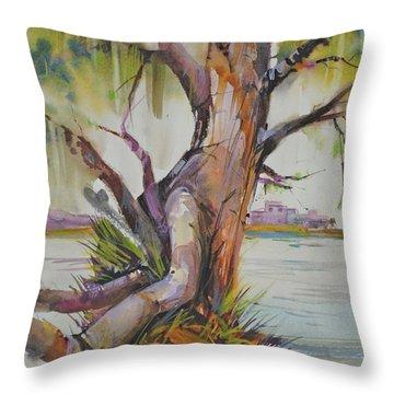 Majestic Live Oak  Throw Pillow