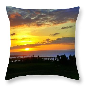 Majestic Maui Sunset Throw Pillow