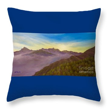 Majestic Morning Sunrise Throw Pillow