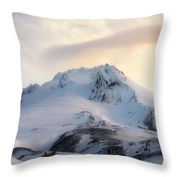 Throw Pillow featuring the photograph Majestic Mt. Hood by Ryan Manuel
