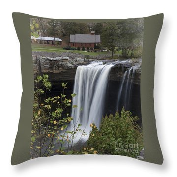 Majestic Noccalula Falls Throw Pillow