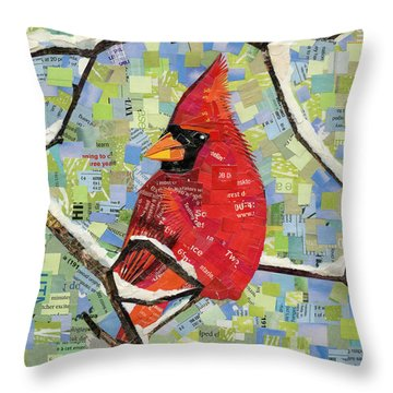 Majestic Red Cardinal  Throw Pillow