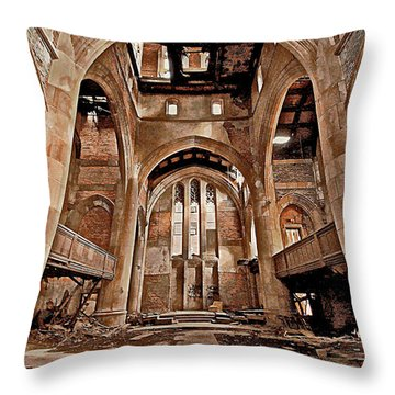 Throw Pillow featuring the photograph Majestic Ruins by Suzanne Stout
