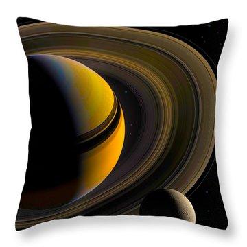 Majestic Saturn Throw Pillow