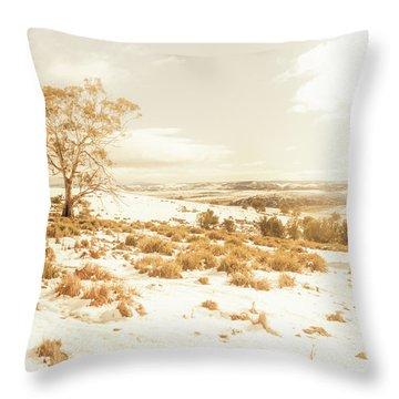 Majestic Scenes From Snowy Tasmania Throw Pillow