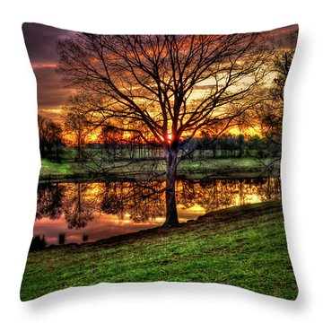 Throw Pillow featuring the photograph Majestic Sunrise Reflections by Reid Callaway
