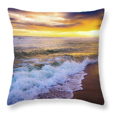 Throw Pillow featuring the photograph Majestic Sunset In Paradise by Shelby Young