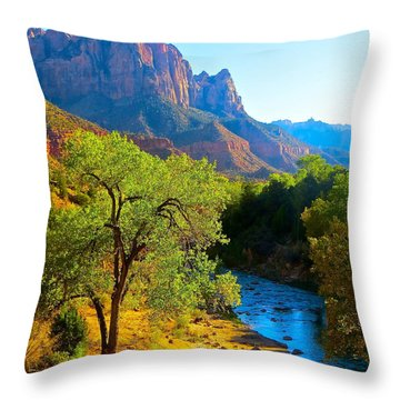 Majestic Watchman Throw Pillow