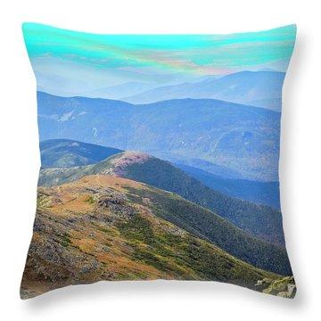 Majestic White Mountains Throw Pillow
