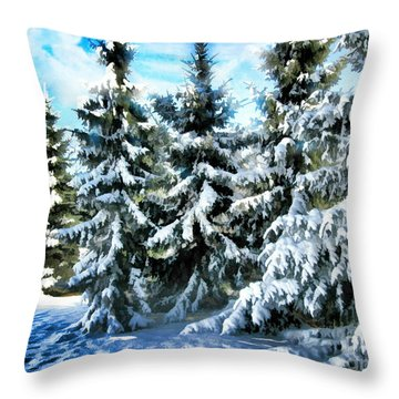 Majestic Winter In New England  Throw Pillow