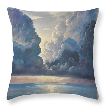 Throw Pillow featuring the painting Majesty by Rosario Piazza