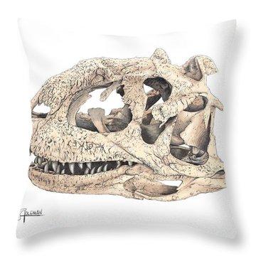 Majungasaur Skull Throw Pillow