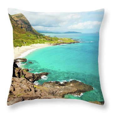 Makapu'u Beach Throw Pillow