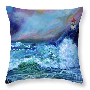 Makapuu Light House Throw Pillow
